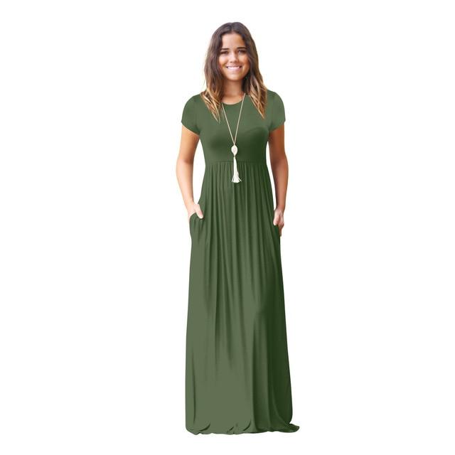 Pregnant Womens Nursing Solid Maternity Dress 3