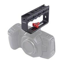 Andoer kamera kavrama peynir kolu 1/4 inç vida delikleri Video sabitleyici Rig kamera kafesi monitör led ışık mikrofon DSLR