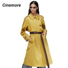 CINEMORE 2020 New arrival autumn khaki trench coat women fashion