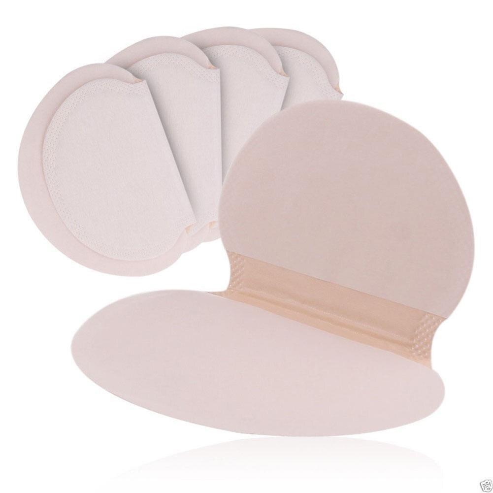 50Pcs Women Men Underarm Anti Perspiration Cotton Pads Sweat Absorbing Deodorant Shield Pad