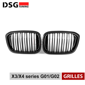 Image 2 - Front Kidney Grill For BMW G01 G02 Bumper Racing Grille X3 X4 ABS Gloss Black/Matt Black Auto Styling xDrive20i xDrive30i 2018+