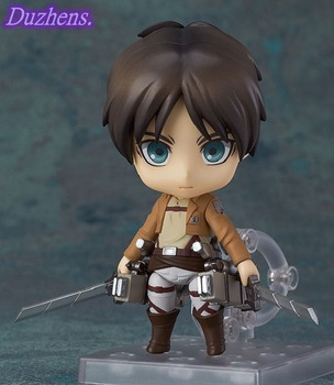 [In stock] Attack On Titan Eren Jaeger Q version figma PVC Action Figure Anime Figure Model Toys Figure Collection Doll Gift 2
