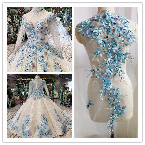 3D Fiore In Rilievo Del Merletto di Grandi Dimensioni di Patch Applique Abito Da Sposa FAI DA TE Accessori Decorativi Cucire RS725