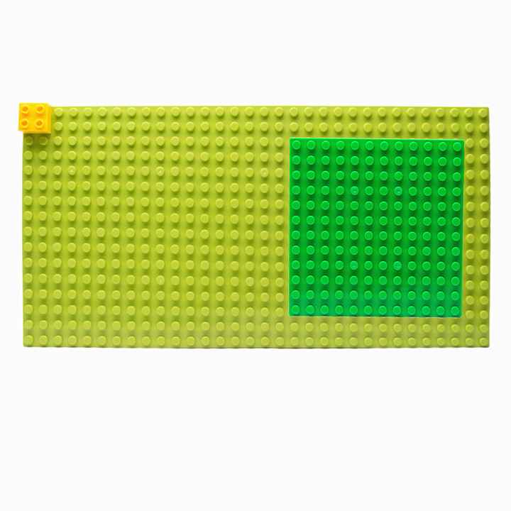 combined shipping green Duplo plate 4X8