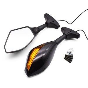 Image 2 - לדוקאטי 400 620 695 696 796 821 797 מפלצת 748 SS750 אופנוע צד Rearview מראות הפעל אותות חיווי עם LED אורות