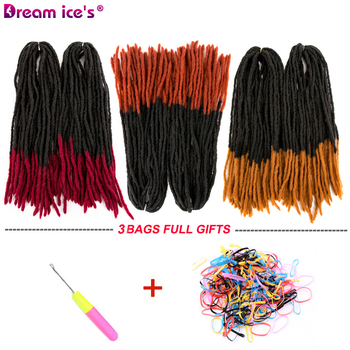Dreadlocks Hair Crochet Braids Soft Dread Afro Hairstyle Ombre Synthetic Faux Locs Ombre Braiding Hair Extensions Dream ice's брюки ombre ombre mp002xm1k5cj