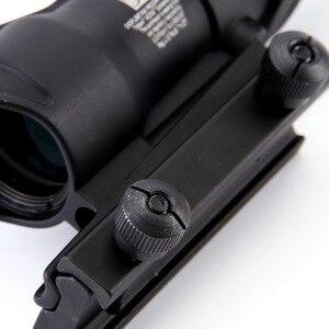 Image 4 - Arme de chasse Chevron ACOG 4X32, véritable Fiber optique, objectif rouge vert, verre illuminé réticule de tactique, vue optique