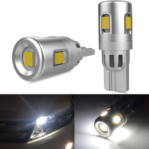 Katur 2x W5W T10 LED Bulbs Canbus For Car Parking Position Lights Interior Map Dome Lights 12V White Auto Lamp 6500K 2835 SMD(China)