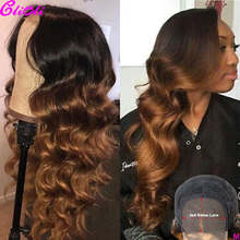 13x4 Body Wave Lace Front Wig Pre Plucked Ombre 1b 27 Honey Blonde Lace Front Wig Body Wave Ombre Human Hair Wig 4x4 Closure Wig