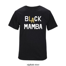 Kobe Bryant Black Mamba T-shirt Summer Cotton Short-sleeved O-neck T Shirt Loose Tops Men Fashion Tee Black White Gray Tops(China)