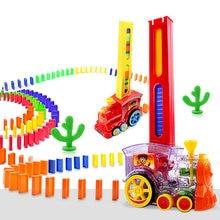 Домино Поезд Автомобиль набор детский звуковой светильник Автоматическая