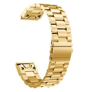 Image 4 - 26 22 20 mm libération rapide facile ajustement acier inoxydable montre bracelet bracelet pour Garmin Fenix 6 6X 5 5X 5s 3HR D2 Mk1 montre intelligente