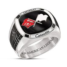 New Exquisite American Legend Supercar Corvette Corvette Champion Jewelry Men Engagement Wedding Gift Ring(China)