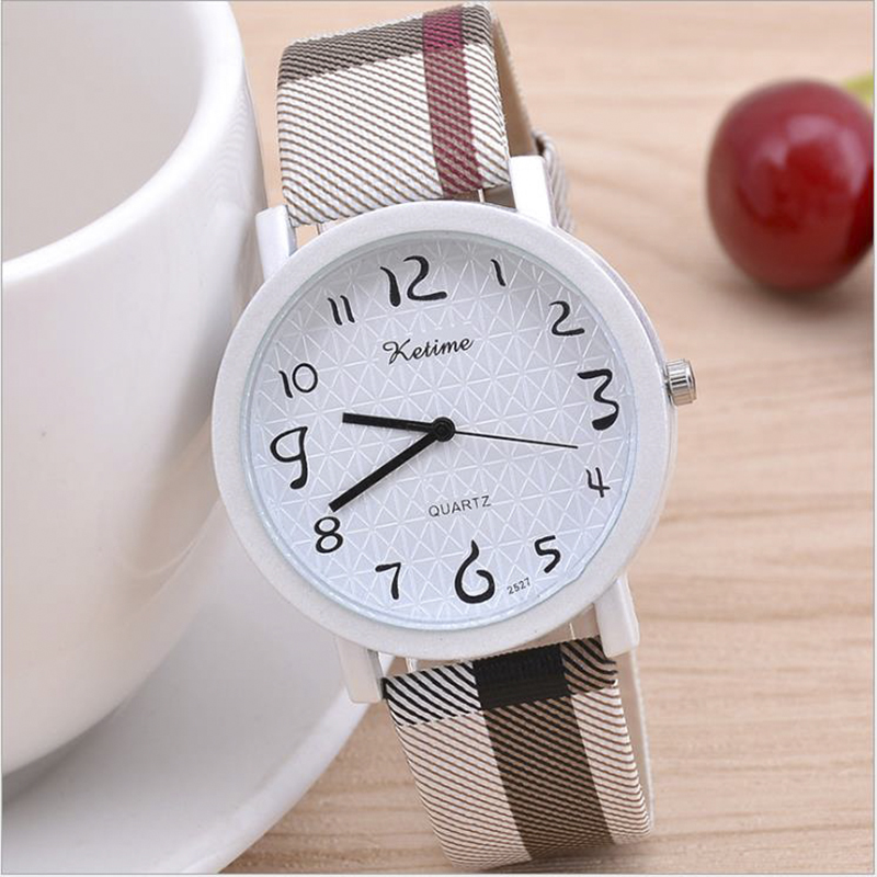 Retro Striped Lattice Milan Watches Women's Ore Glass Dial Wrist Watch Leather Buckle Dress Clock Quartz Watch Relojes De Mujer
