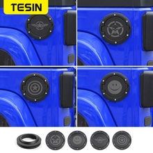 TESIN coperchio tappo serbatoio carburante auto e anello di tenuta in gomma per Jeep Wrangler JK 2007 2017 Styling accessori auto esterni