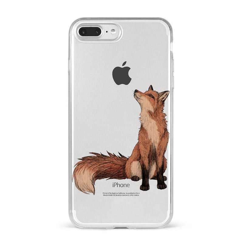 アニメおかしい foxs 素敵なかわいいシリコーン電話ケースカバーケース iphone × SE 5S 6 6S 7 8 プラス XR XS 最大 11 プロマックス Fundas Coque