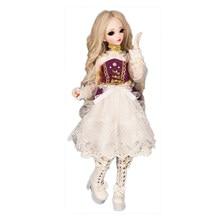 Bjd Pop Sd Pop 1 / 4 Vrouwelijke Pop Minifee Chloe Beweegbare Gezamenlijke Pop Hof Stijl Set Temperament Mode Verjaardag gift