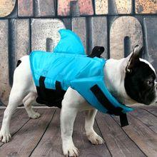 Shark-Shape Dog Life Jacket Dog Summer Swimming Vest Safety Clothing Dog Jacket For French Bulldog Small Middle Large Dog