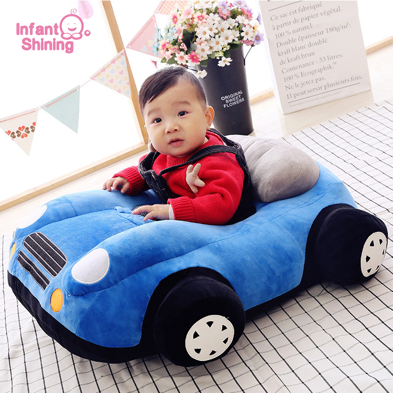 Infant Shining Baby Seat Kids Sofa Chair Soft Car Toy Sofa  Infant Safety Seat Baby Bean Bag Chair 70*55cm Cotton Plush Gift