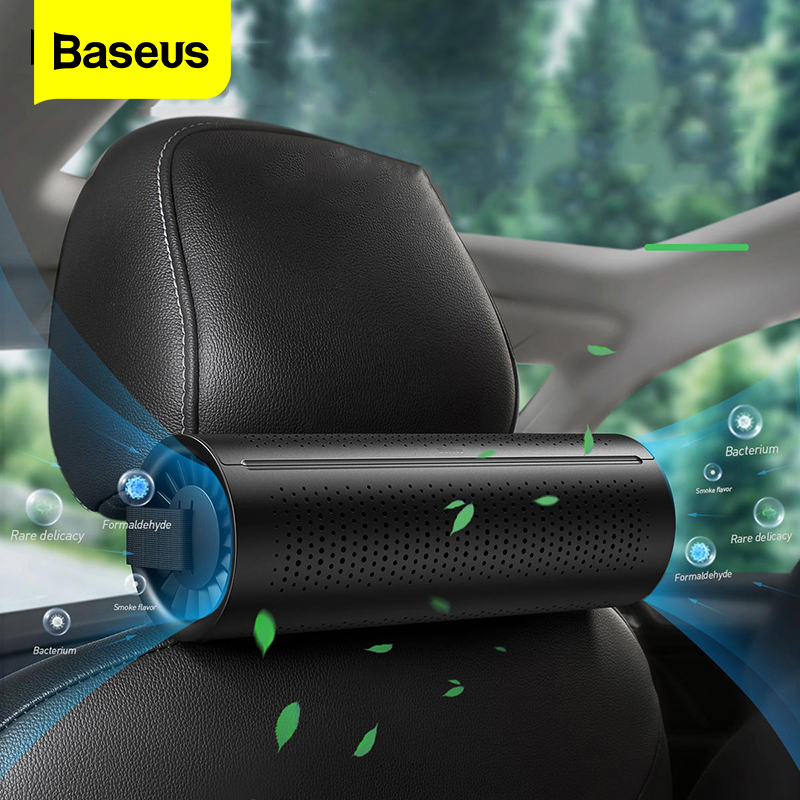 Baseus New Car Air Purifier Ionizer Negative Ion Car Air Freshener Activated Carbon Formaldehyde Auto Air Cleaner Accessiories