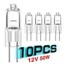 10 pces 12v lâmpadas 5w/10w/20w/35w/50w g4 lâmpadas de iluminação interior globo lote jc led inseridos grânulos de cristal lâmpadas lâmpada de halogênio