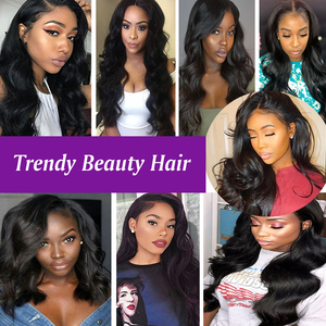 Image 3 - Brazilian Body Wave Human Hair 3/4 Bundles With 4x4 Lace Closure Middle/Free/Three  Non Remy Free Shipping Trendy Beauty Hair