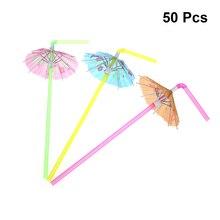 20 шт одноразовые трубочки декоративные Гавайские Зонты вечерние поставки соломинки для праздника Luau день рождения