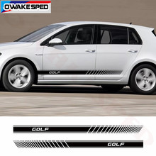 Autocollants en vinyle de style Sport pour Volkswagen Golf 4 5 6 7 MK7 MK5 MK2 MK6 MK4 MK3, bandes latérales de porte de voiture, décoration de jupe