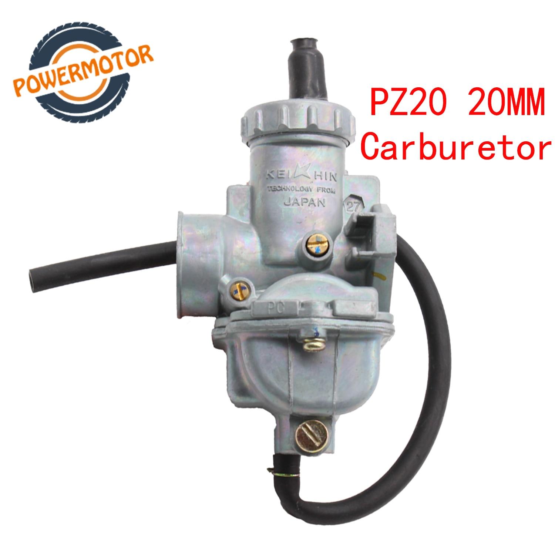 PZ20 carburateur manuel carburateur 50cc 70cc 90cc 110cc 125cc 135 pour Kazuma ATV Quad Go Karts mobylsunl HK110