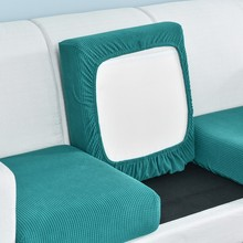 funiture protector Jacquard thick sofa cushion cover Corner sofa seat cushion slipcover elastic solid color couch cover cheap S-EMIGA CN(Origin) normal enlarge seat cushion cover Combination Kit Plain Dyed Sectional Sofa Polyester Cotton