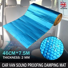 Auto Car Van Sound Proofing Deadening Vibration Automobiles Heat Noise Shield Insulation Damping Mat 2mm 46cm*7.5m