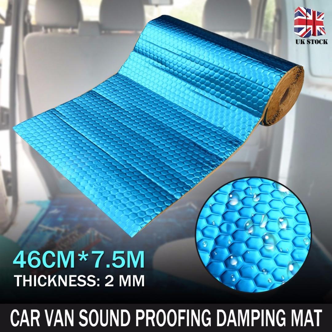 Auto voiture Van insonorisation amortissement vibrations Automobiles chaleur bruit bouclier isolation tapis d'amortissement 2mm 46cm * 7.5m