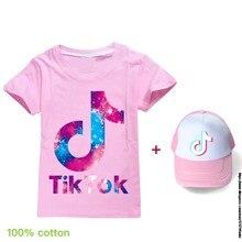 Tik tok quente meninas conjuntos de roupas verão tik tok manga curta topo + saco de 2 peças crianças terno