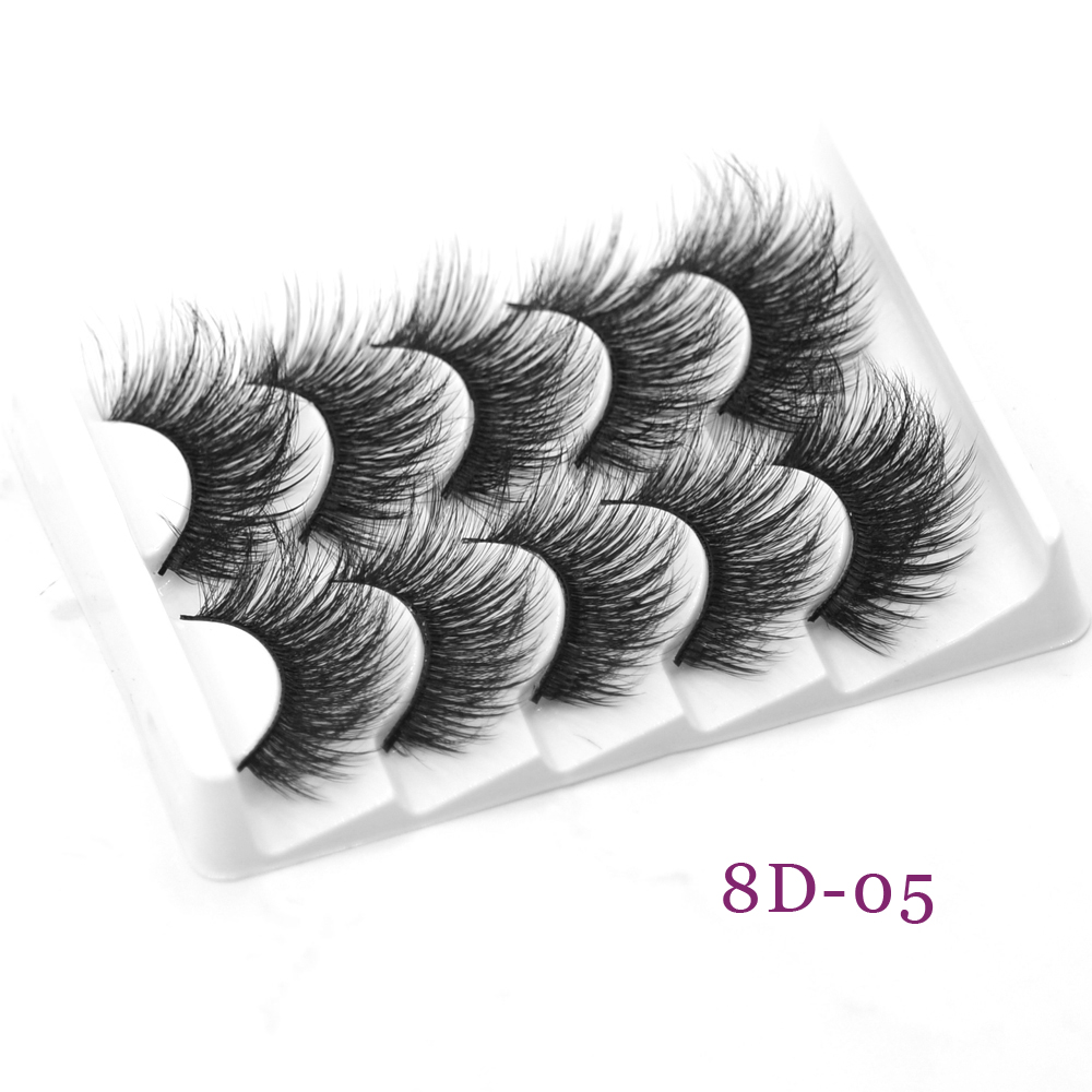 DamePapil 5 Pairs Lot Whole Sale 5d Mink Lashes 16-20mm Fluffy/Wispy/Thick Full Strip 3d/5d.6d/8d Various Layers False Eyelashes