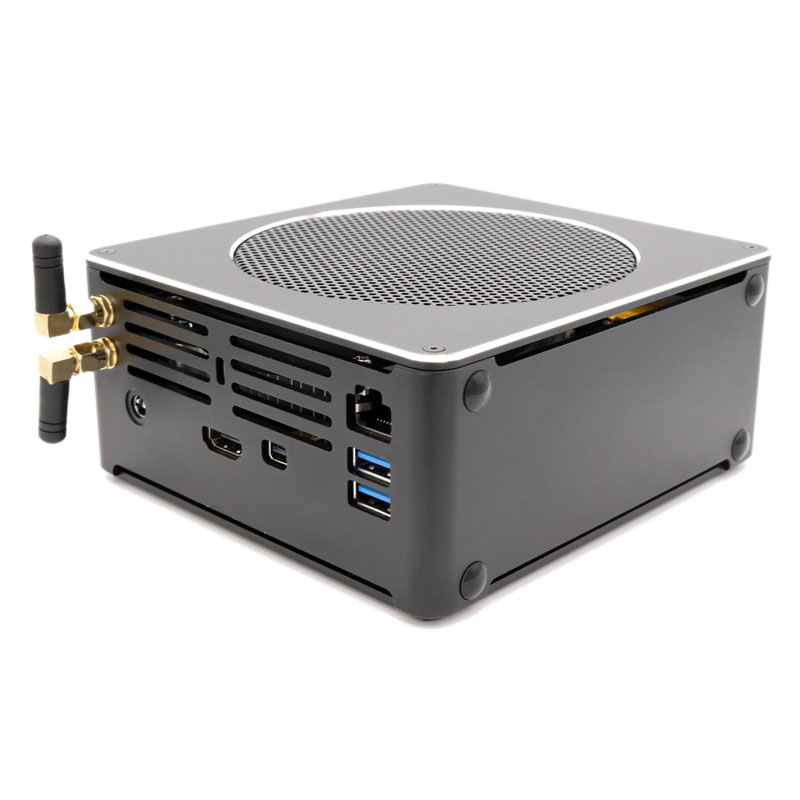 Eglobal S200 Mini PC I7-8750H Barebone Quad Core Win10 DDR4 Intel UHD Graphics 630 4.1GHz Fanless Mini Desktop PC MIC VGA HDMI