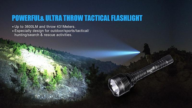 Trustfire 3600lm arma luz xhp70 led rifle