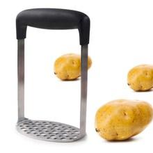 ERMAKOVA Нержавеющая сталь картофеля Ricer широкая эргономичная ручка тонкой сетки заторный Чан пластины для гладкой пюре