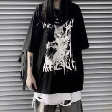 Мужская и женская летняя футболка Корейская версия harajuku