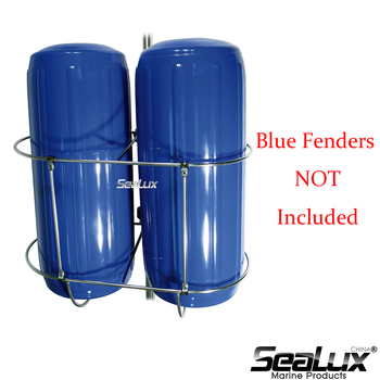 Sealux Double Fender Holder Small size for fender size under 7 for Marine Boat Yacht Fishing water paddle boat hand boat for child under 7 years old