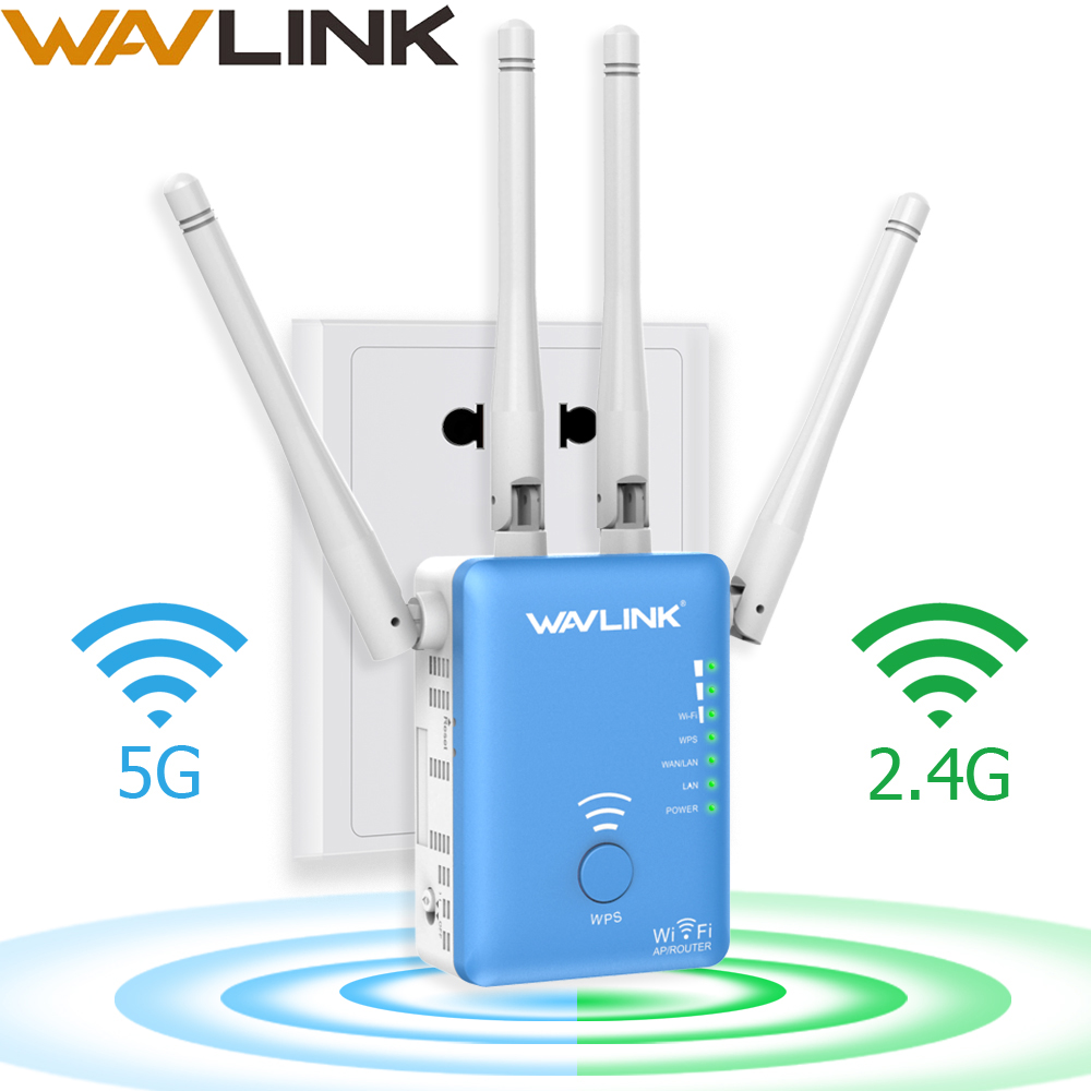 Wavlink Range Extender Wifi-Signal-Amplifier W/external-Antennas Repeater/Router/access-point-1200mbps