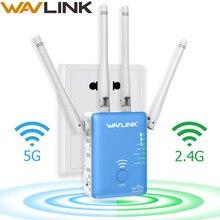 Wavlink wifi ретранслятор/маршрутизатор/точка доступа 1200 Мбит/с беспроводной Wi-Fi диапазон расширитель wifi усилитель сигнала ж/внешние антенны синий