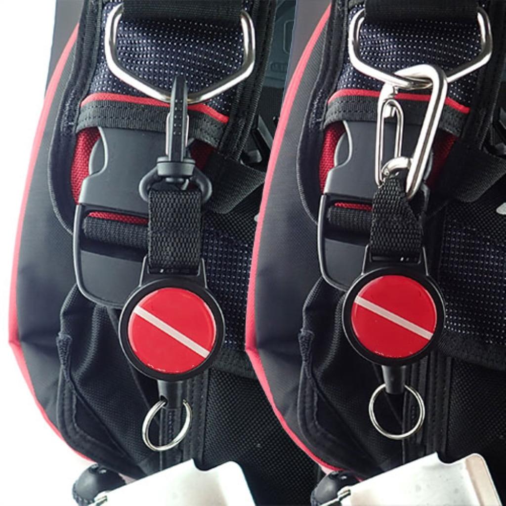 2x Scuba Diving Gear Keeper Retraktor Tauchen Stretchy Lanyard Lichthalter