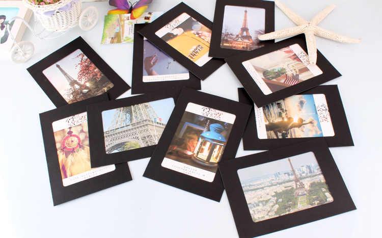 10 قطعة 6 بوصة ورقة إطار صور ل الصورة DIY صورة معلقة حامل ألبوم الزفاف جدار ديكور التخرج حزب الدعائم صور