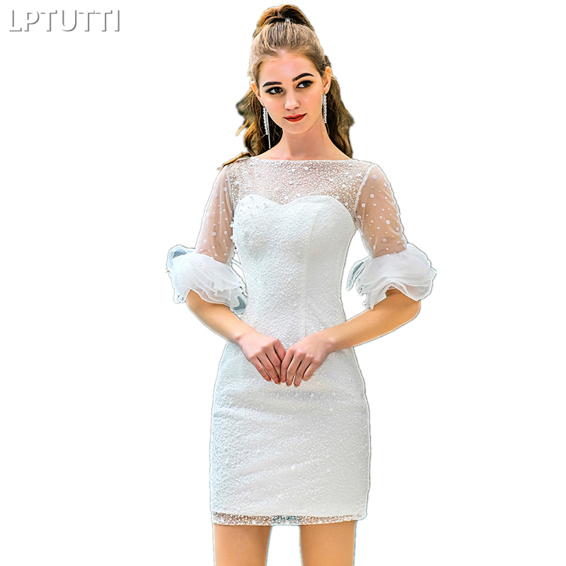 LPTUTTI Beading Embroidery New Sexy Woman Social Festive Elegant Formal Prom Party Gowns Fancy Short Luxury Cocktail Dresses
