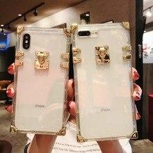Deluxe square transparent TPU phone case for 6 7 8 Plus iPhone 11 Pro MAX X XS Max XR FUNDA
