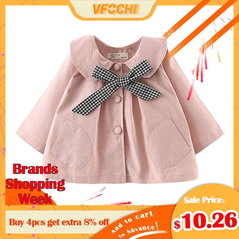 VFOCHI 2019 Baby Girl   Trench   Coat Windbreaker Fashion Pink Jacket Children Clothing Autumn Toddler Baby Girls Outerwear   Trench