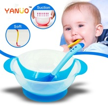 Baby Bowl Tableware Dinnerware-Set Suction-Cup Spoon Learning-Dishes Kids Fork with Safety