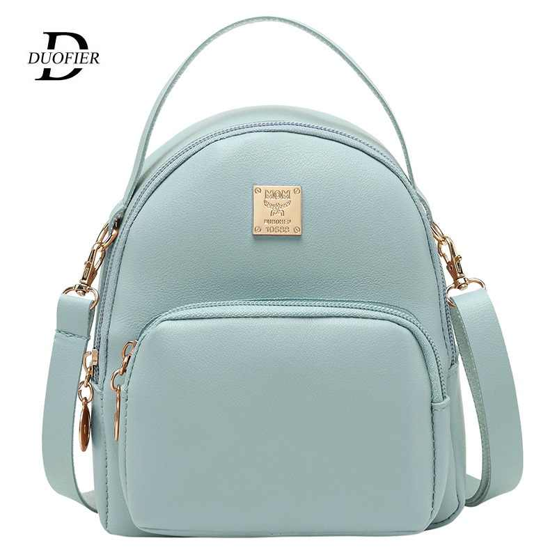 Women Backpack Fashion Mini School Bags For Teenager Girls Candy Colors Simple Female College Style Small Shoulder Bag Trend