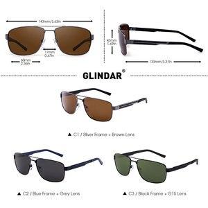 Image 5 - Marka tasarım erkekler polarize güneş gözlüğü kare sürüş güneş gözlüğü erkekler için