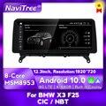 Автомобильный мультимедийный плеер для BMW X3 F25 X4 F26 CIC NBT Система Android 10 авто радио головное устройство навигация GPS 12,3